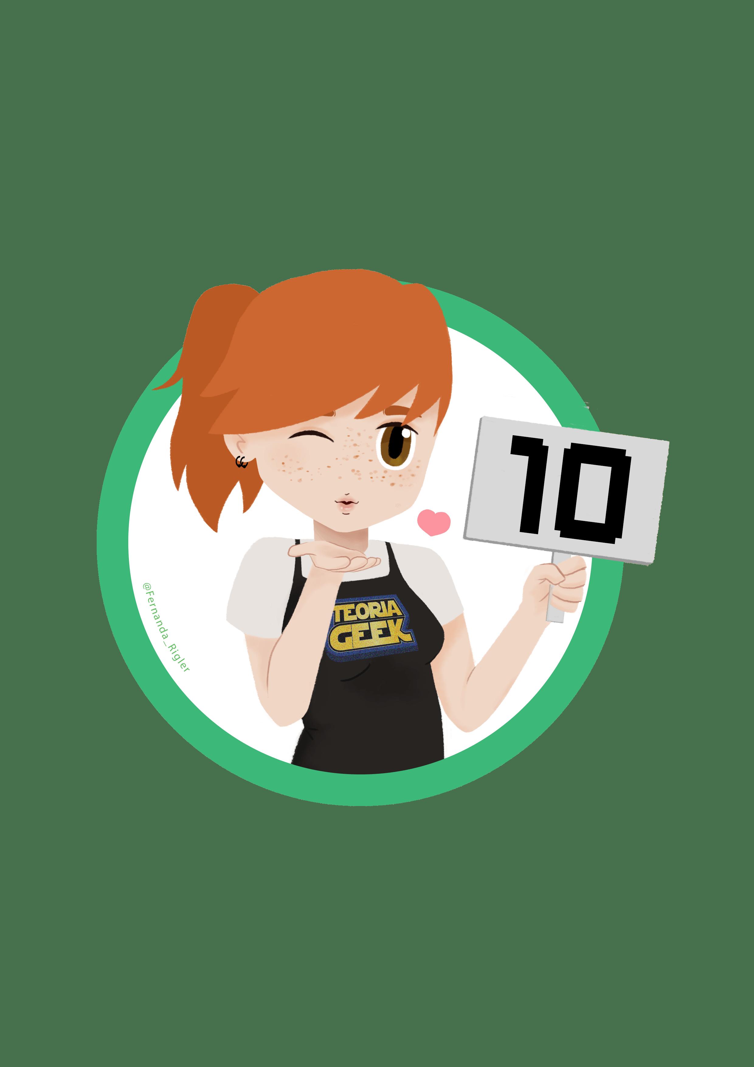 selo teoria geek girl verde 10