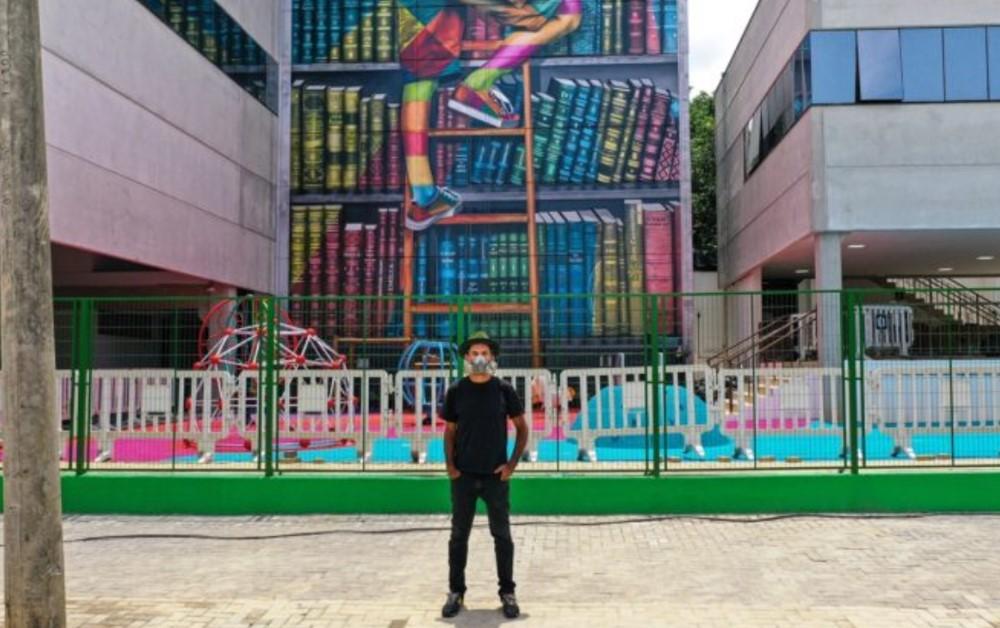 Kobra e Mural de Livro em Sorocaba