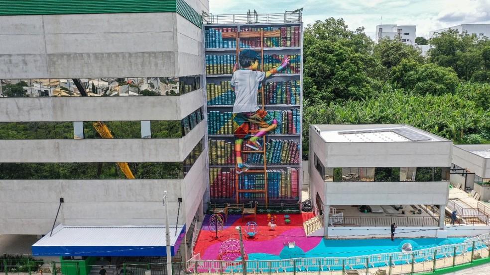 Kobra e Mural de Livros em Sorocaba