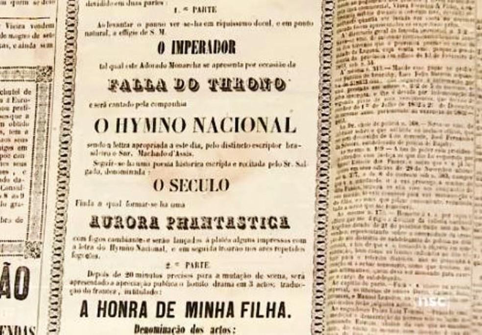 Poesia de Machado de Assis para o Hino Nacional, 1867