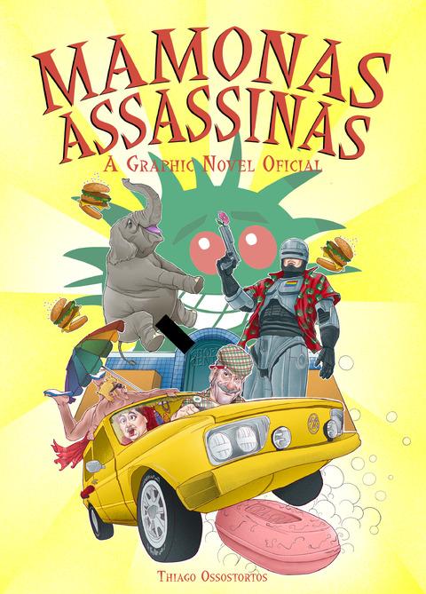 Dia Mundial do Rock Livros HQ - MAMONAS ASSASSINAS A GRAPHIC NOVEL OFICIAL